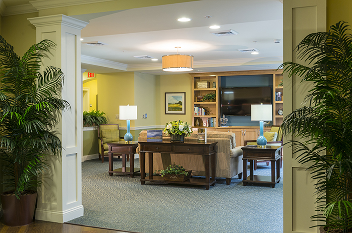 Brightview Arlington Living Room - Massachusetts Senior Living