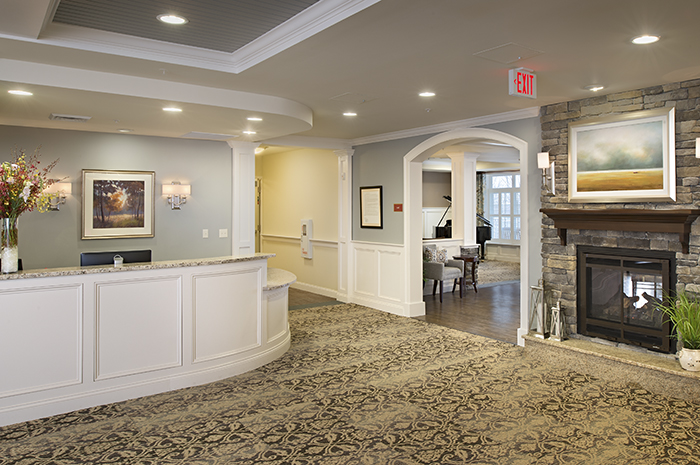 Brightview Arlington Lobby - Massachusetts Senior Living