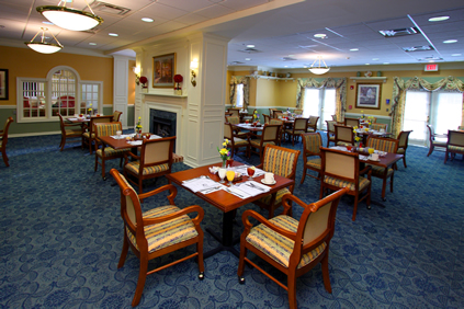 Brightview Bel Air Dining Room - Maryland Senior Living