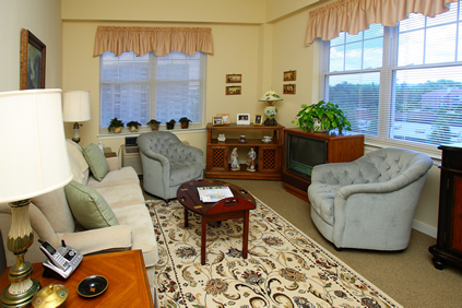 Brightview Bel Air Living Room - Maryland Senior Living
