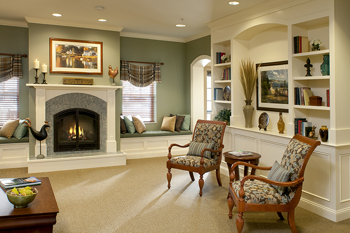 Brightview Concord River Living Room - Massachusetts Senior Living