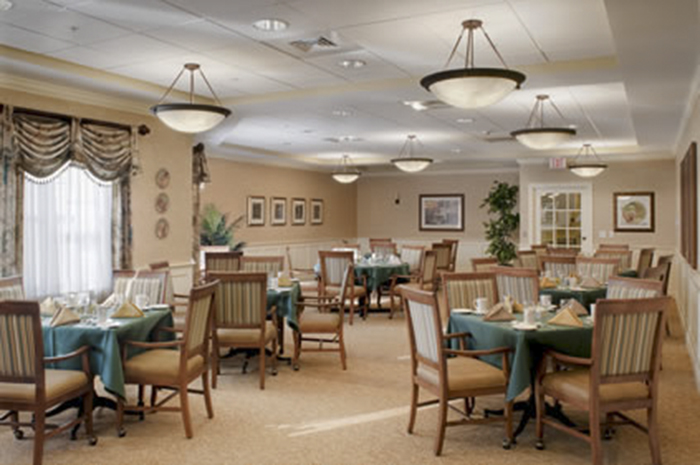 Brightview Concord River Dining Room - Massachusetts Senior Living