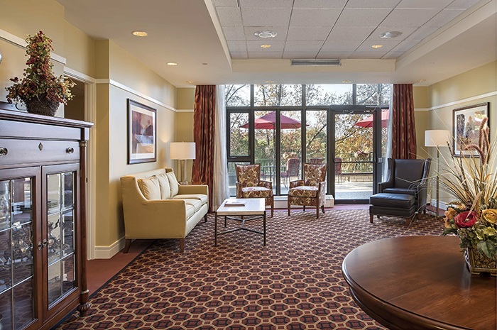 Brightview Country Club Heights Living Room - Massachusetts Senior Living