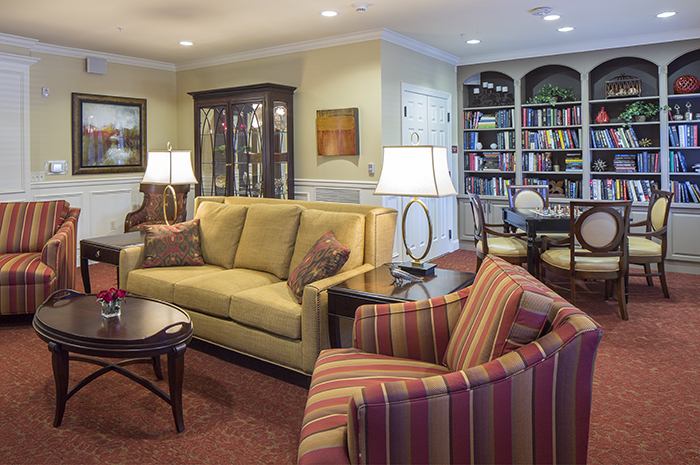 Brightview Fallsgrove Living Room - Maryland Senior Living