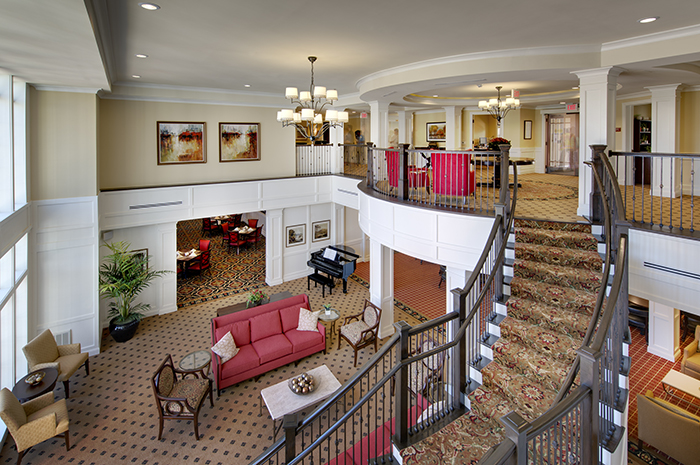 Brightview Great Falls Grand Staircase - Virginia Senior Living