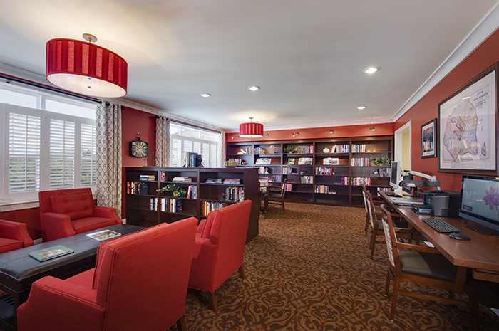 Brightview Great Falls Library - Virginia Senior Living
