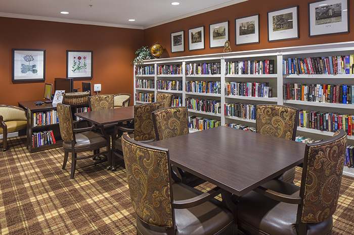Brightview Mays Chapel Ridge Library - Maryland Senior Living