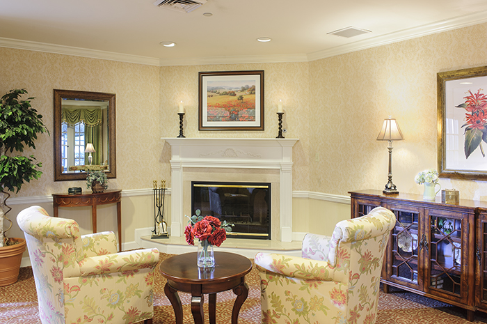 Brightview Mount Laurel Living Room - New Jersey Senior Living