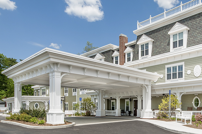 Brightview on New Canaan Exterior - Connecticut Senior Living