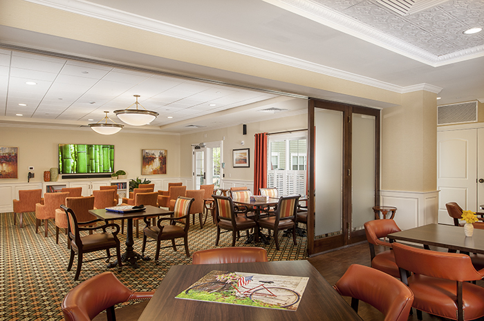 Brightview on New Canaan Activity Room - Connecticut Senior Living