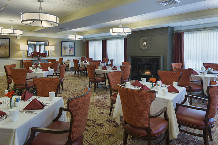 Brightview Paramus Dining Room - New Jersey Senior Living