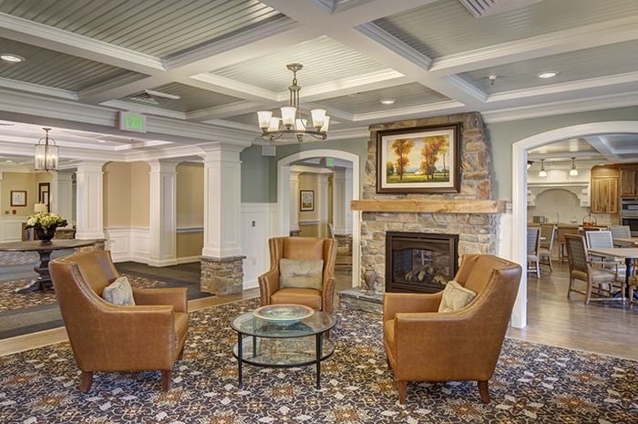 Brightview Rolling Hills Living Room - Maryland Senior Living