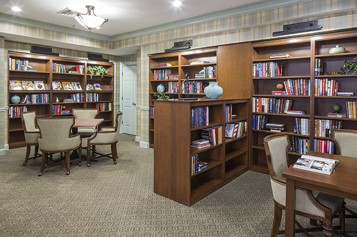 Brightview Rolling Hills Library - Maryland Senior Living