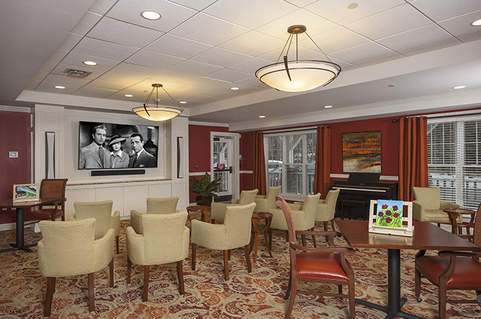 Brightview Tarrytown Television Viewing Room - New York Senior Living