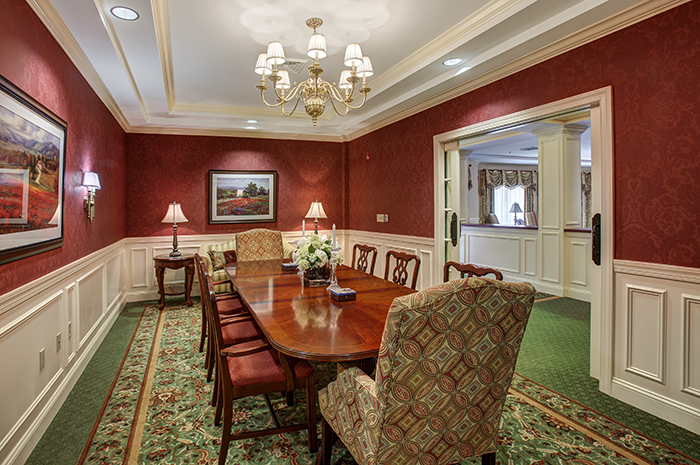 Brightview Towson Private Dining Room - Maryland Senior Living