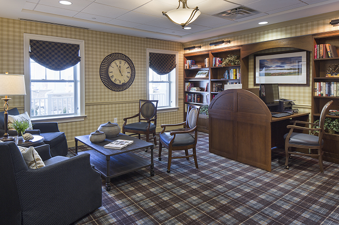 Brightview Warren Library - New Jersey Senior Living
