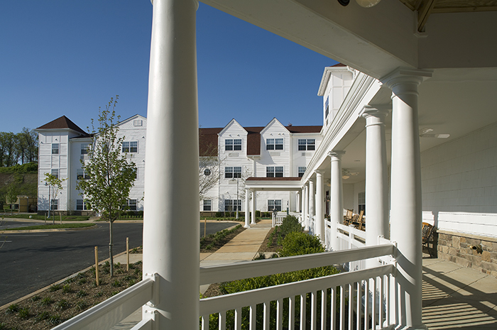 Brightview Westminster Ridge Exterior Porch - Maryland Senior Living