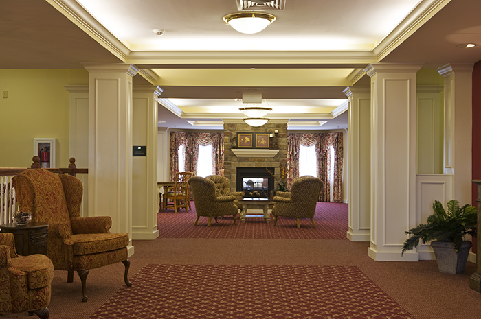 Brightview Westminster Ridge Hallway looking into Living Room - Maryland Senior Living