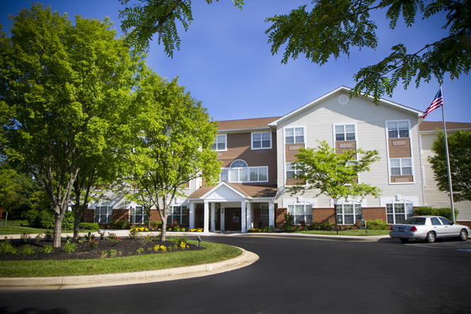 Brightview White Marsh Exterior - Maryland Senior Living