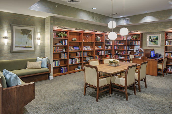 Brightview Woodburn Library - Virginia Senior Living