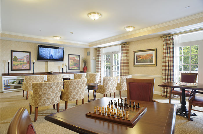 Brightview Woodbury Lake Television Viewing Room - New Jersey Senior Living