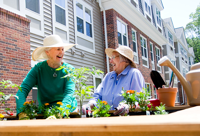Brightview Senior Living Residents Gardening