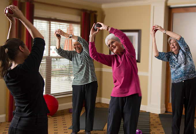 Brightview Senior Living Residents Exercising