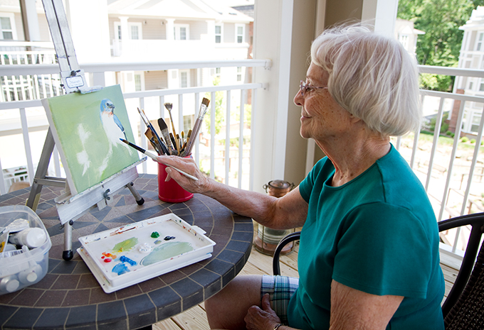Brightview Senior Living Resident Painting