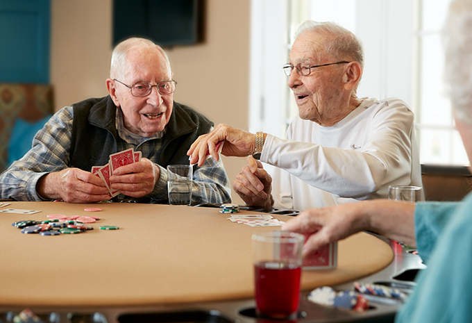 Brightview Senior Living Residents Playing Poker