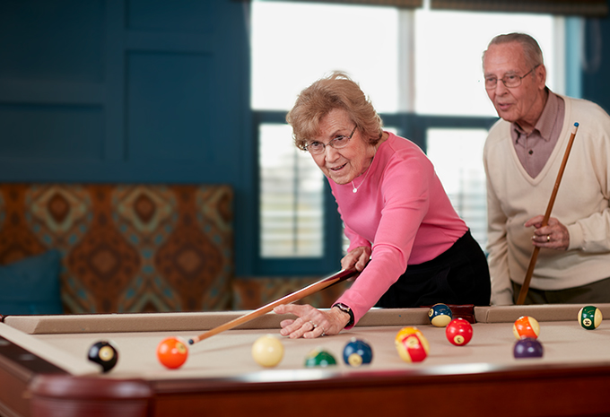 Brightview Senior Living Residents Playing Pool