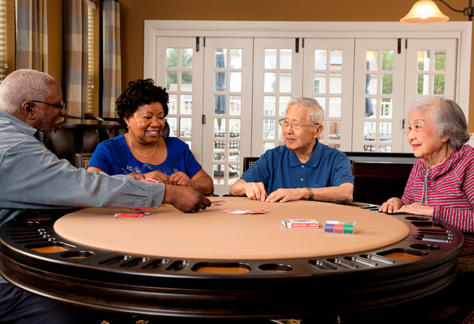 Brightview Senior Living Residents Playing Cards