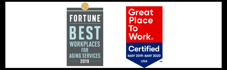 Certified Great Place to Work and Best Workplaces in Aging Services