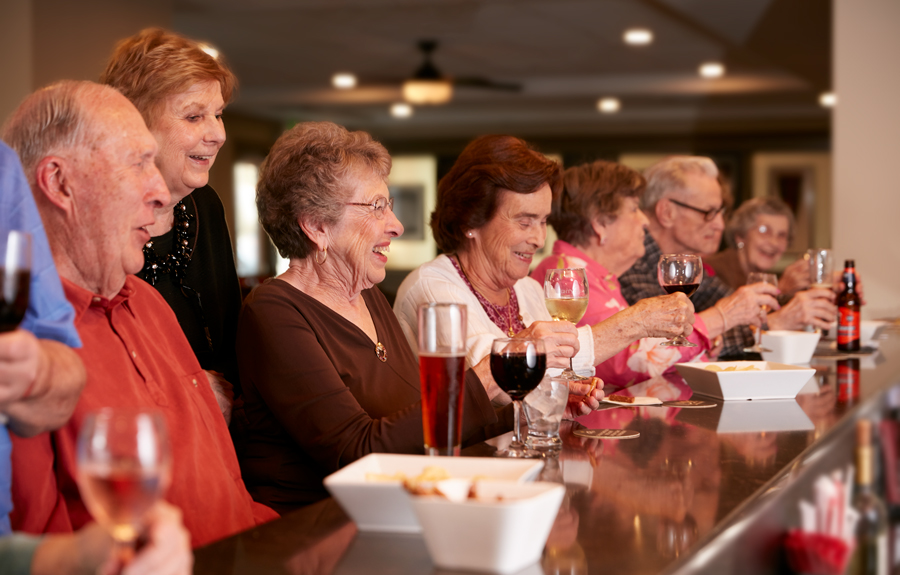 Brightview Senior Living Residents at the Bar