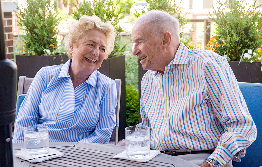 Brightview Senior Living Residents Enjoying the Patio